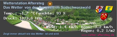 Live Wetter aus der Südlichen Bergwelt im Schwarzwald